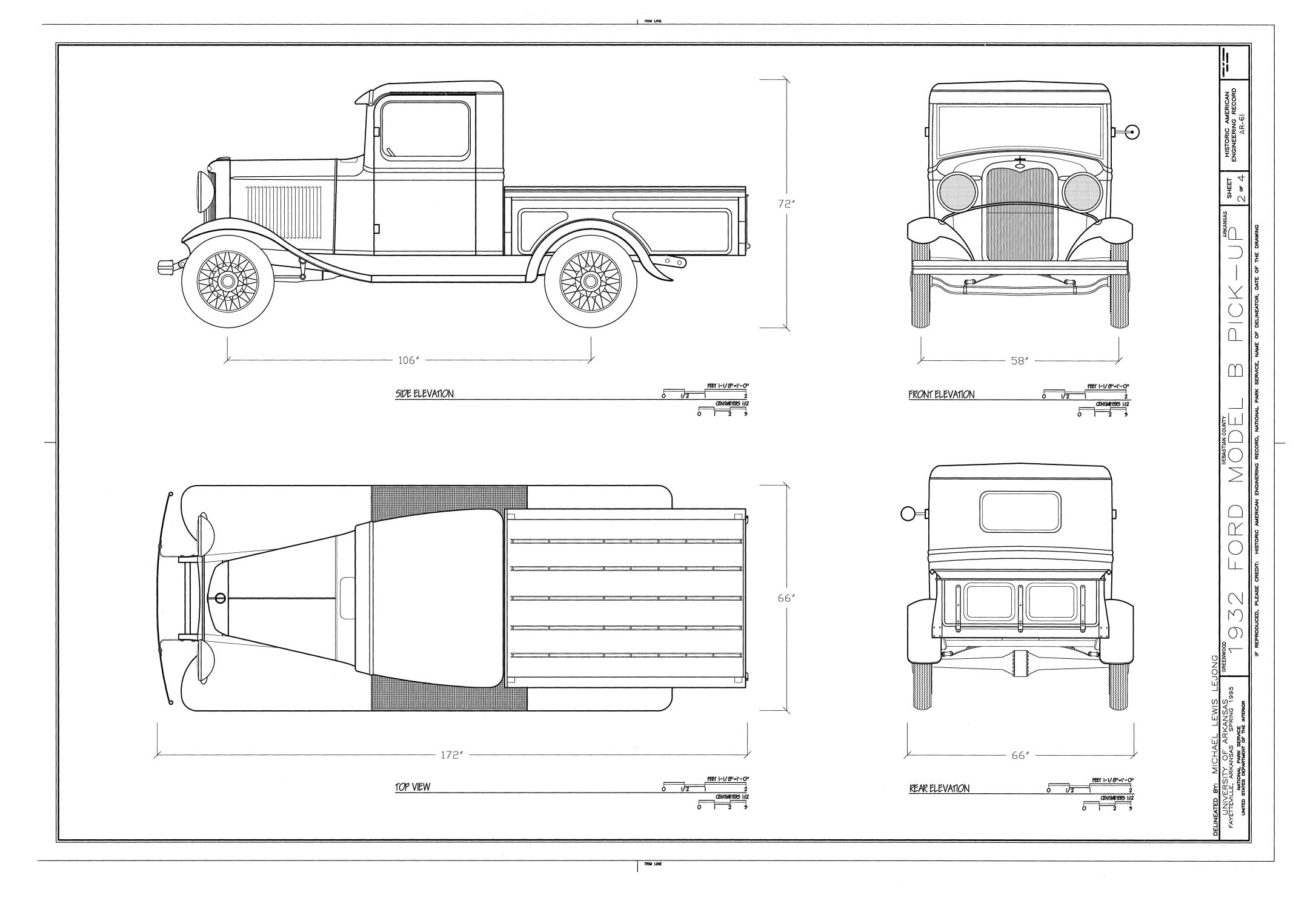 1932 Ford blueprint
