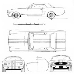 ford mustang blueprint [ 1073 x 1175 Pixel ]