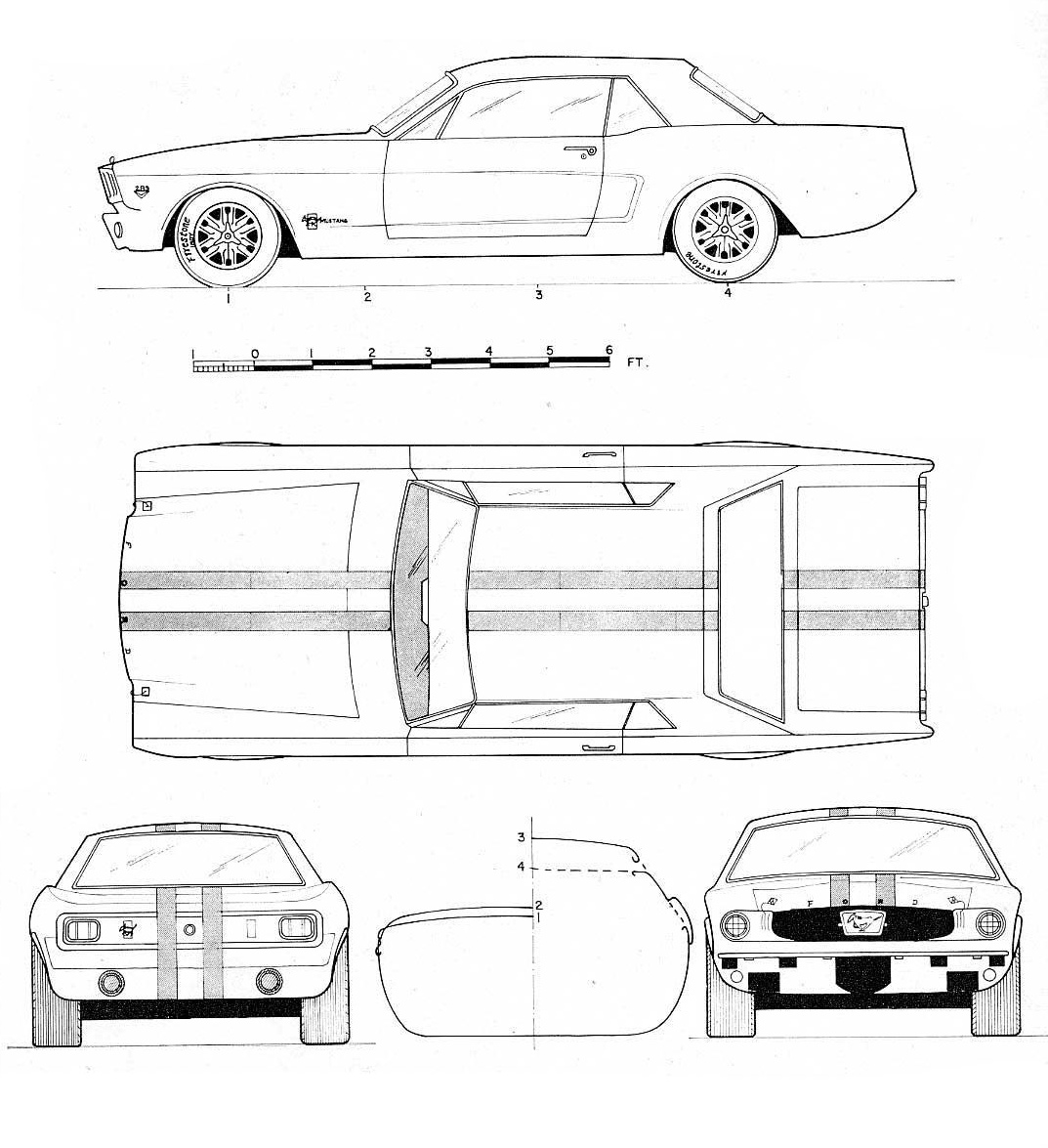 hight resolution of ford mustang blueprint