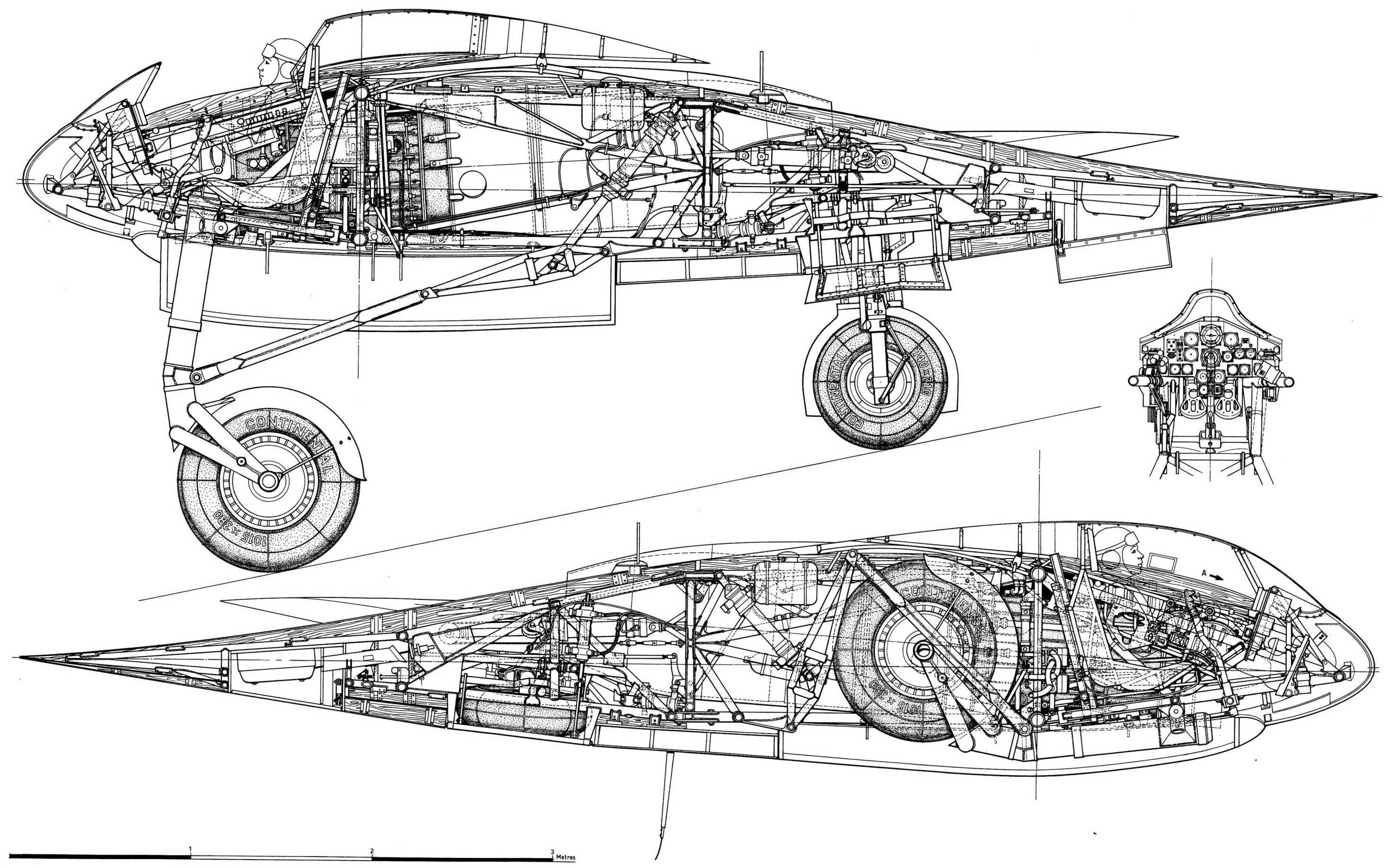 Horten Ho 229a Blueprint
