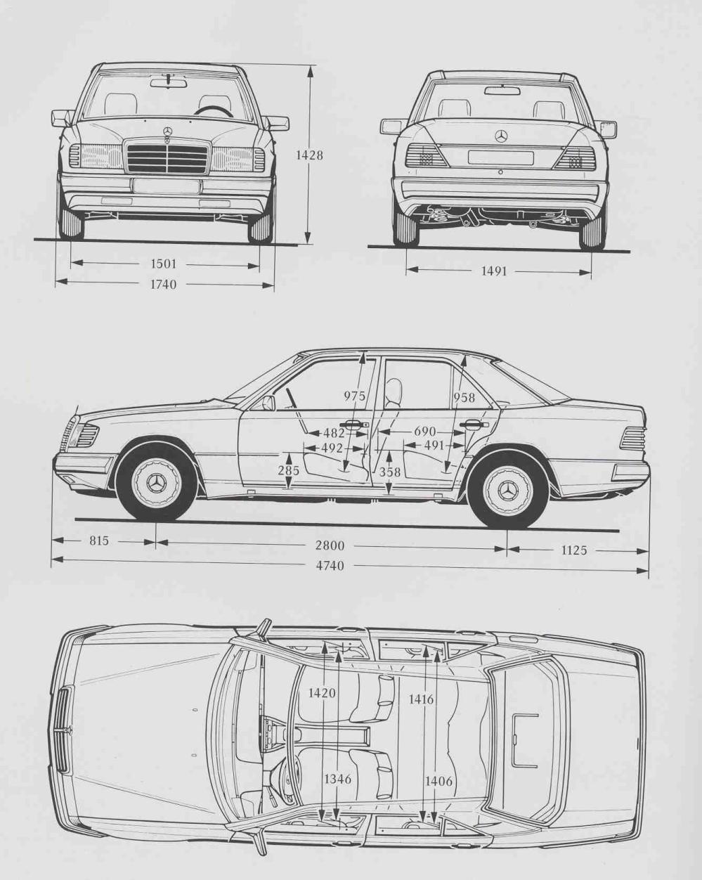 Mercede W124 Wiring Diagram - on