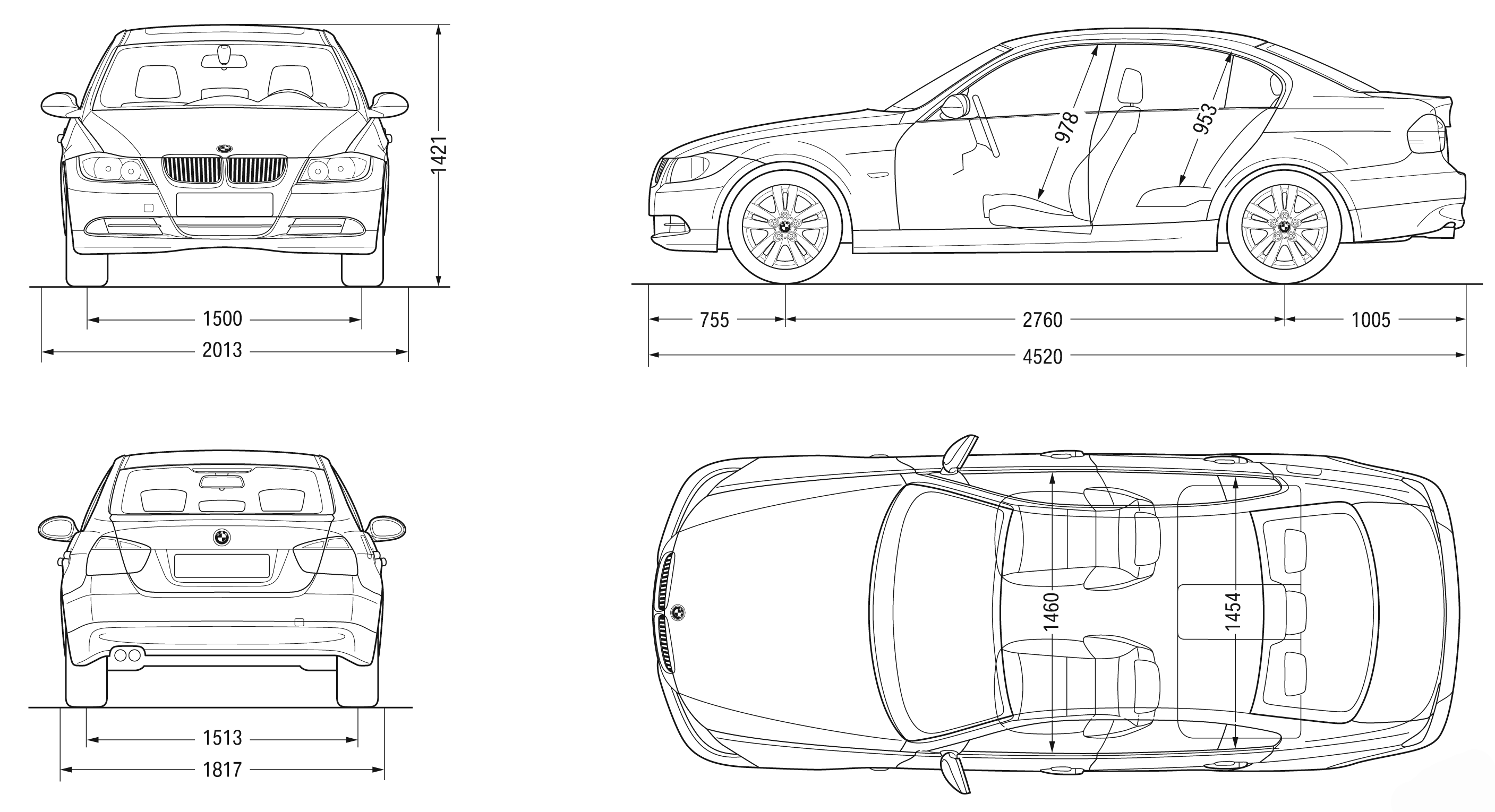 Bmw 3 Series E90 Blueprint