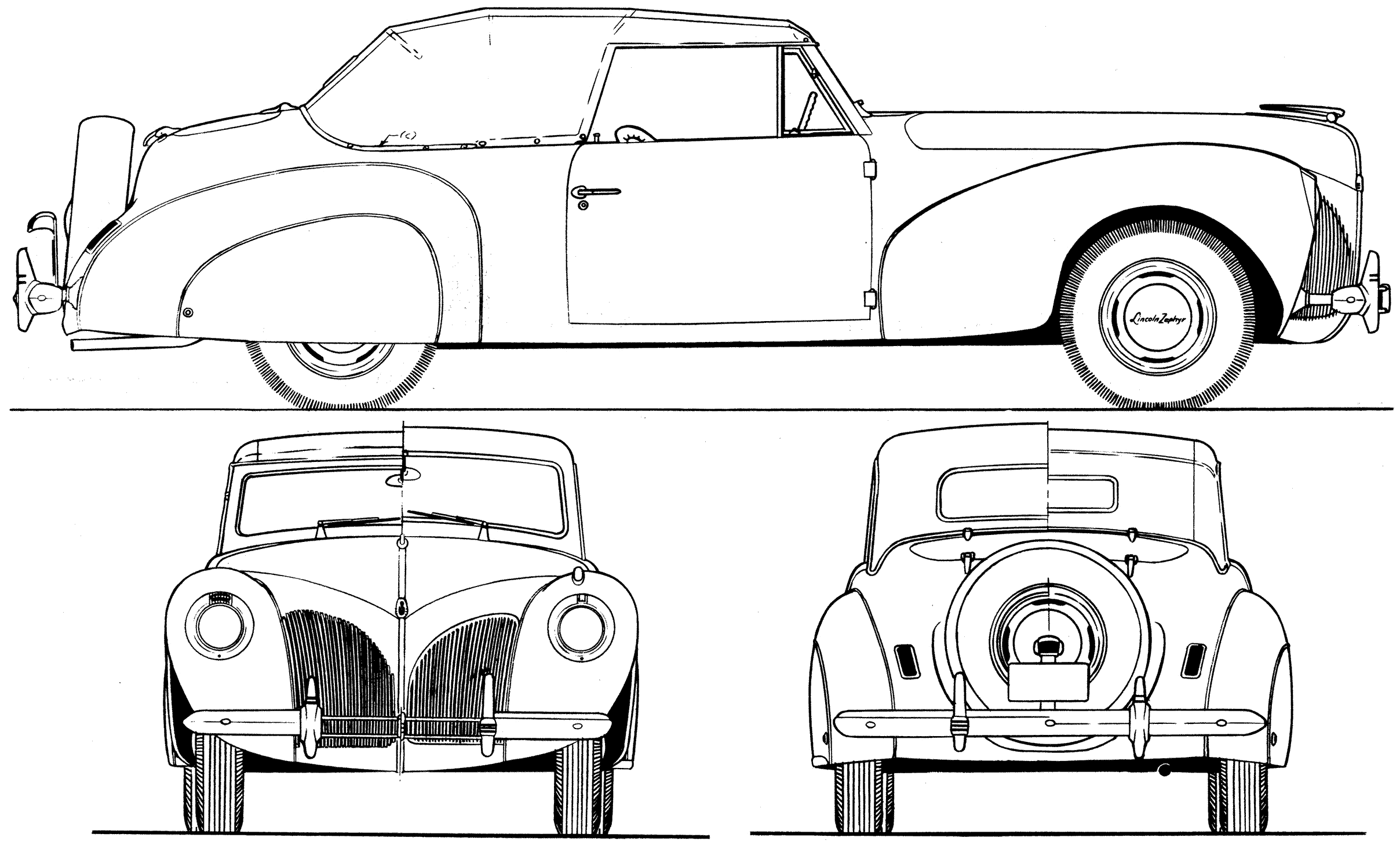 Lincoln Zephyr V12 Blueprint