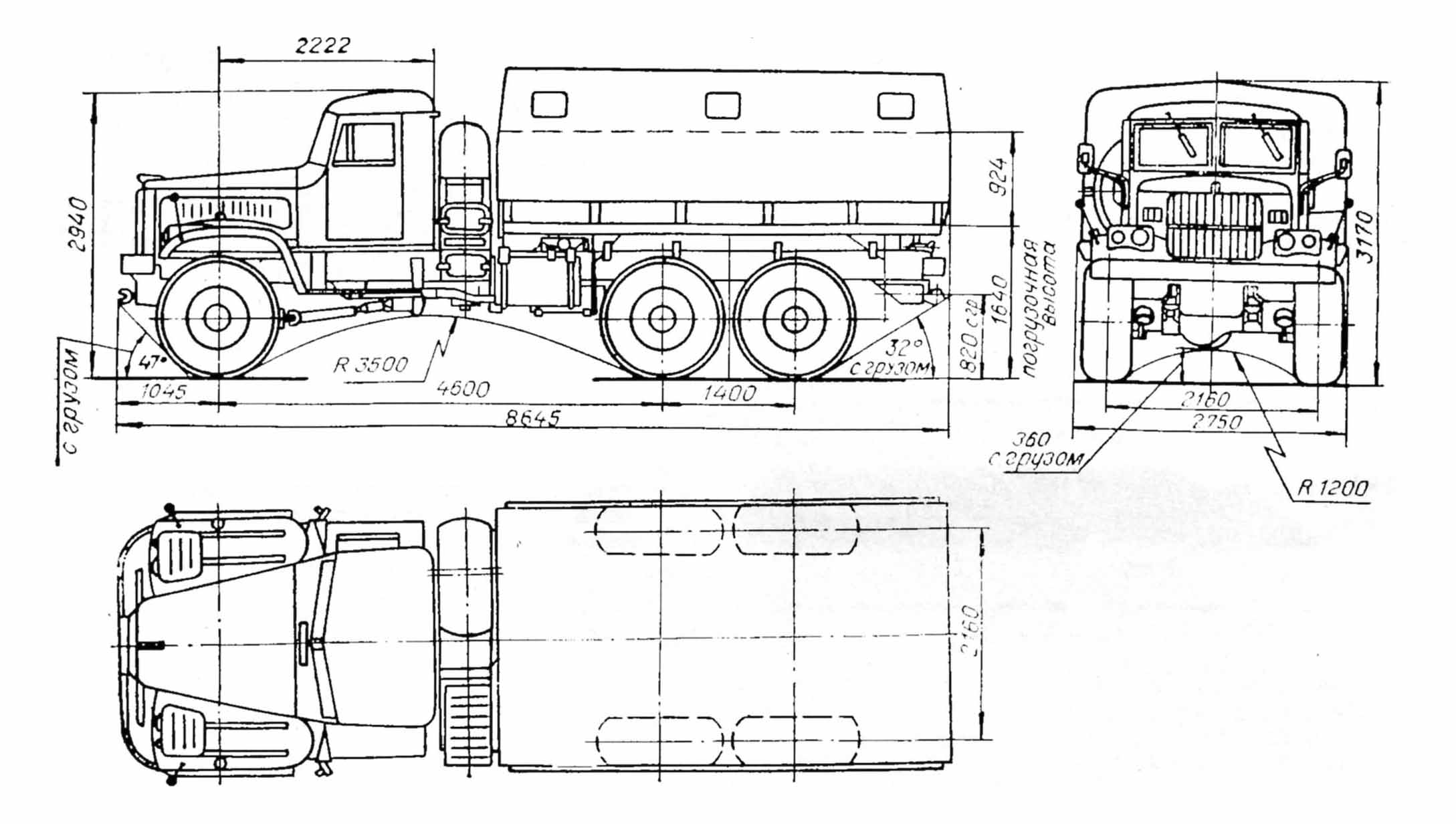 Kraz 255 Blueprint