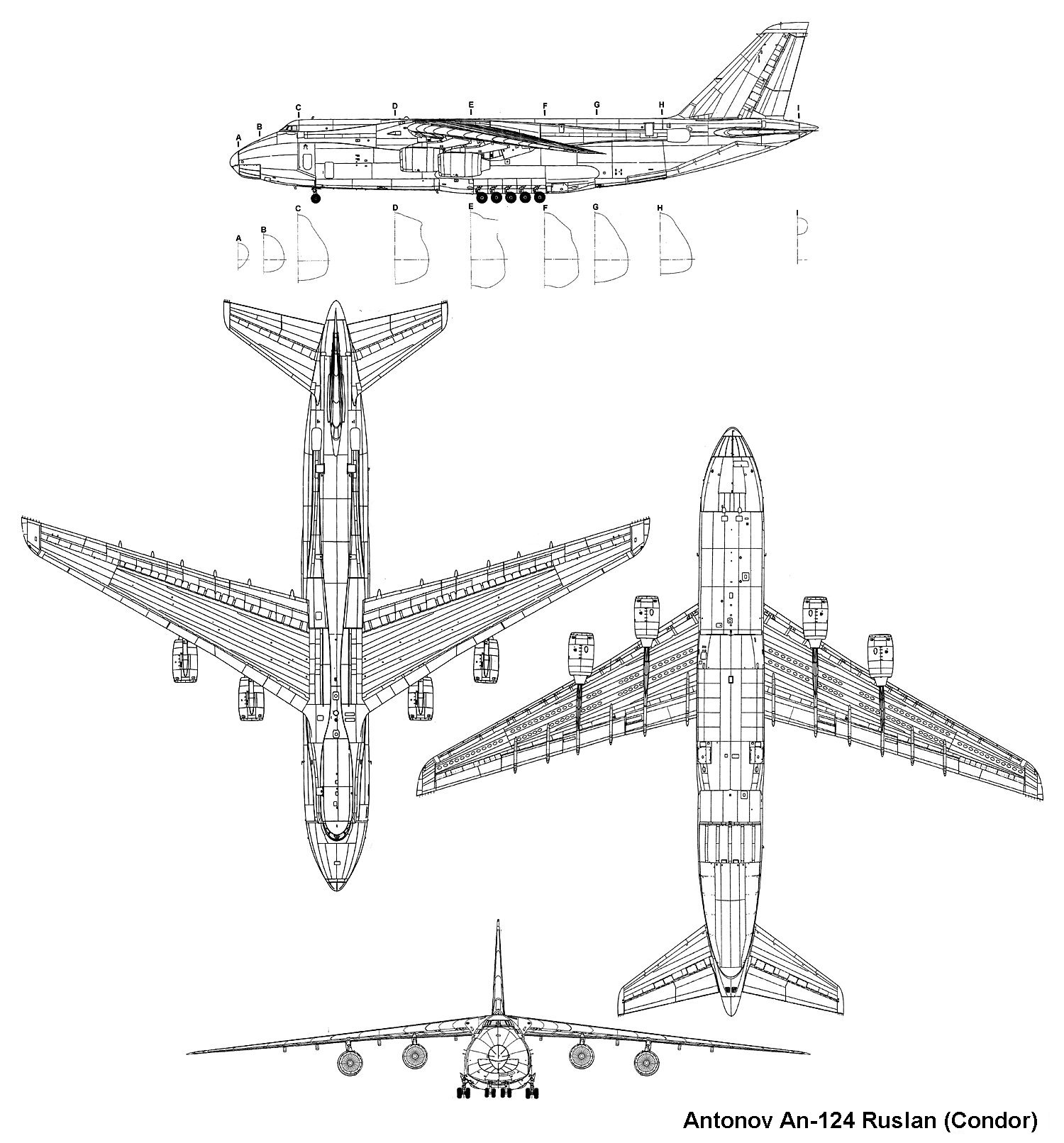 Antonov An 124 Ruslan Blueprint