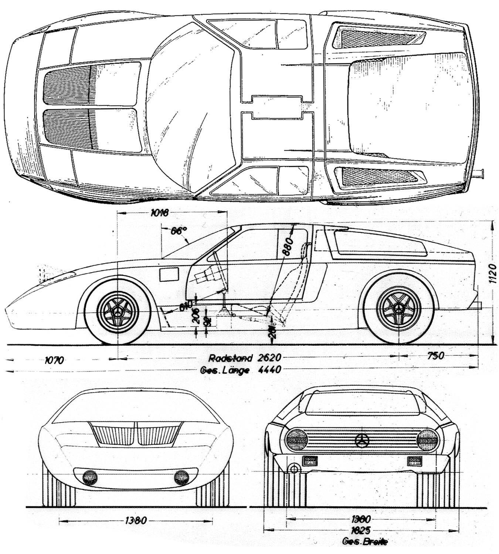 Mercedes Benz C111 Blueprint