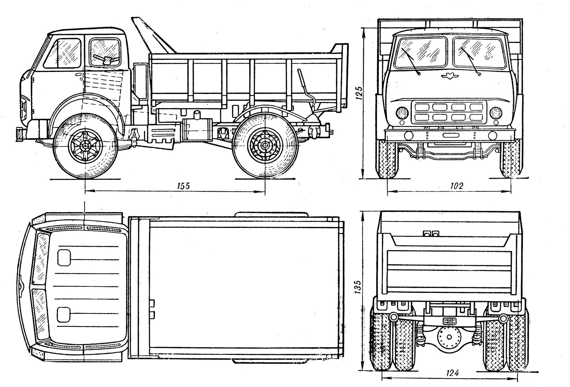 Maz 503 Blueprint