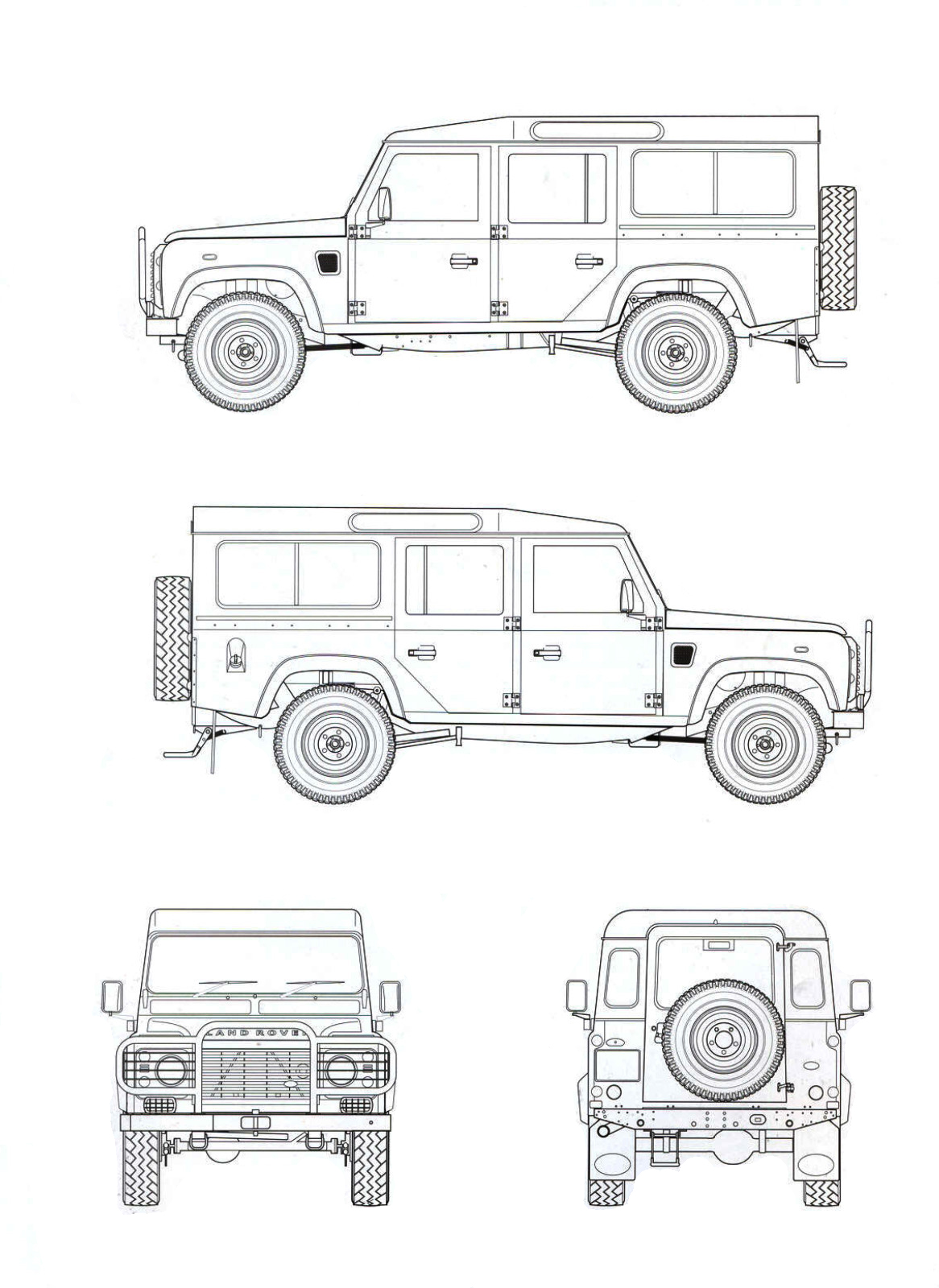 Land Rover Defender 110 Blueprint