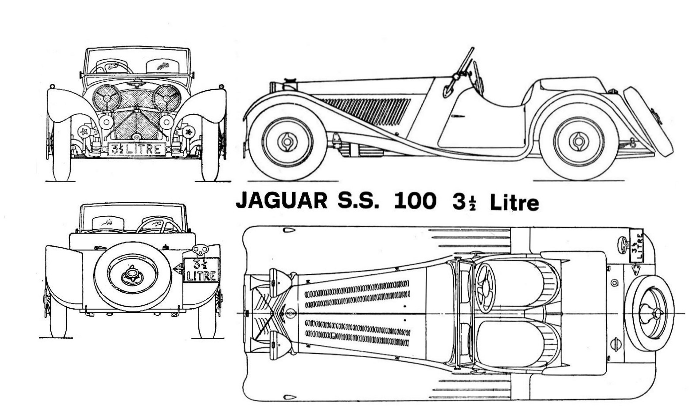 Jaguar Ss100 Blueprint
