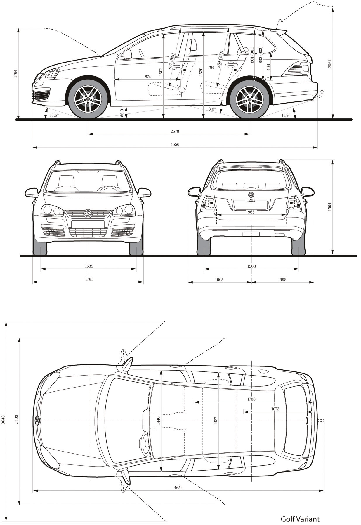 Volkswagen Golf V Blueprint