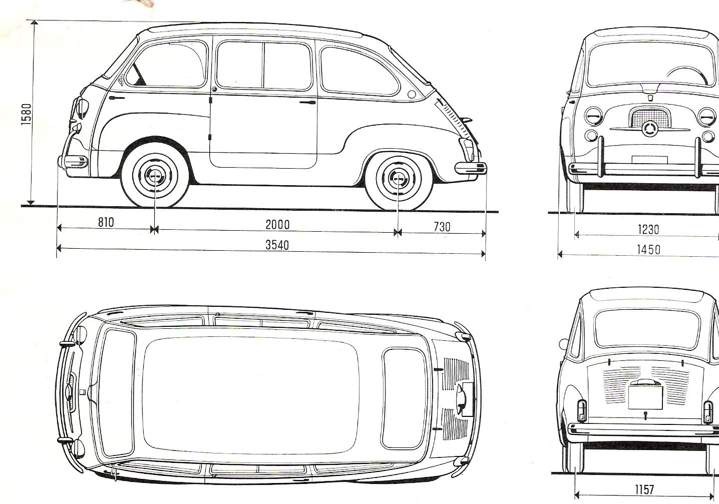 Fiat 600 Multipla Blueprint