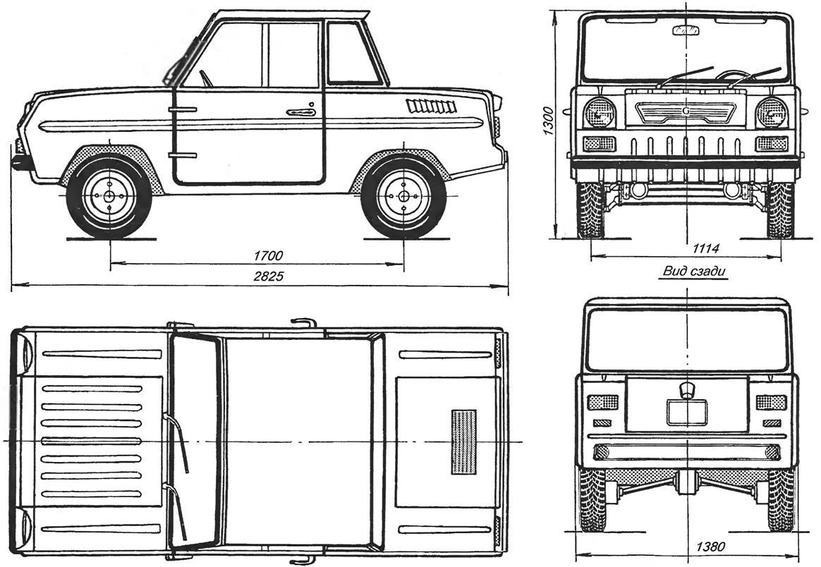 S 3d Cycle Car Blueprint