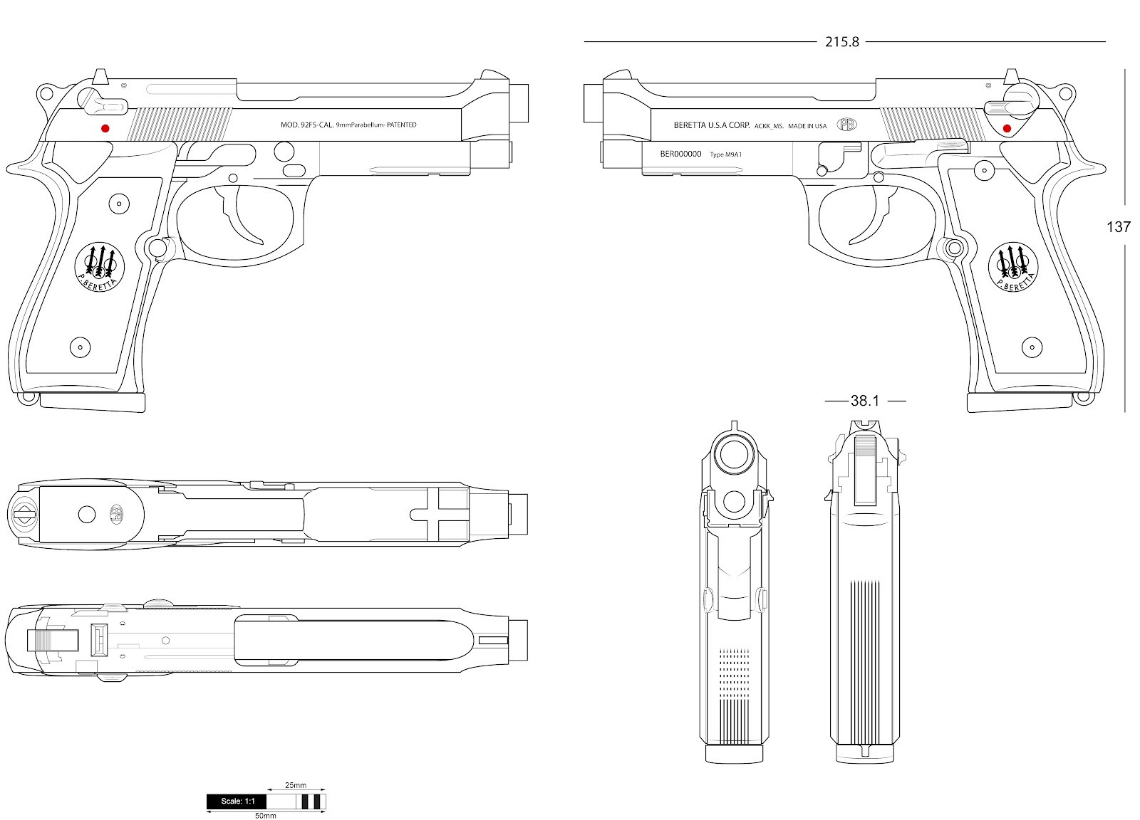 Beretta 92fs Blueprint