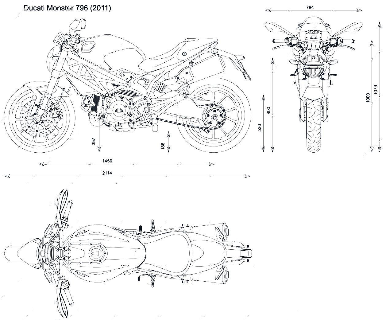 Ducati Monster 796 Blueprint