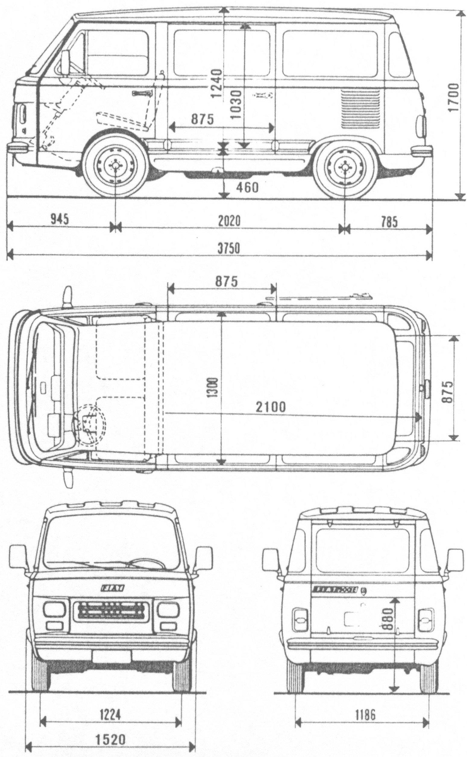 Fiat 900e Blueprint