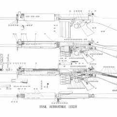 M14 Parts Diagram Wiring For Headlight Switch Fn Fal Blueprint - Download Free 3d Modeling