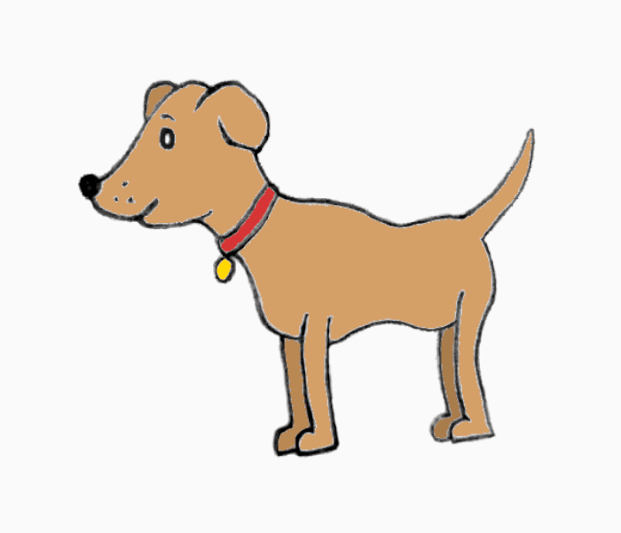 add colour-dog drawing easy