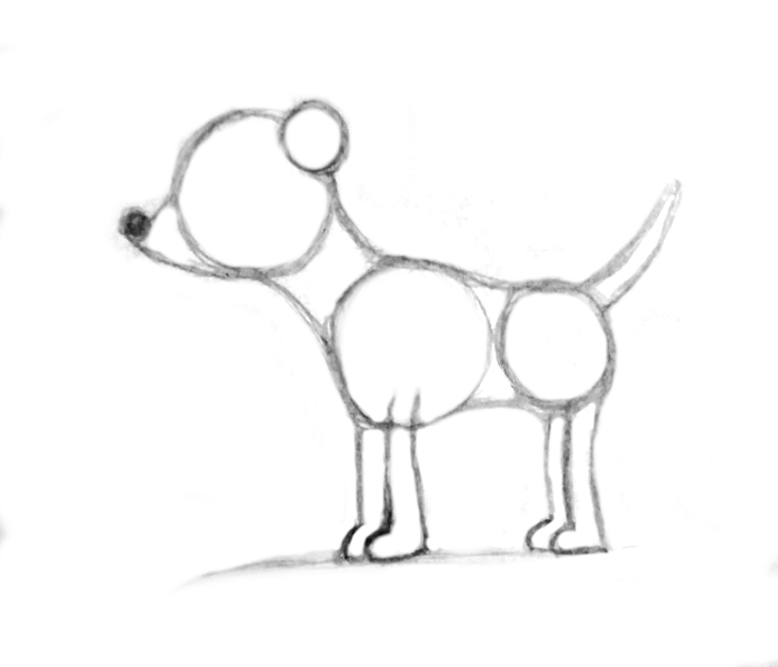 add dog ears-dog-drawing