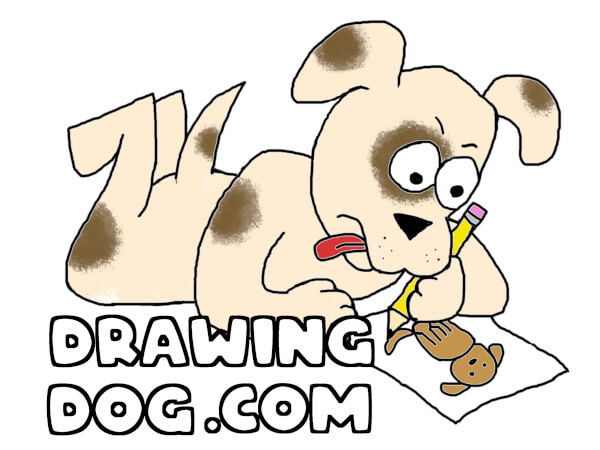 drawing dog logo