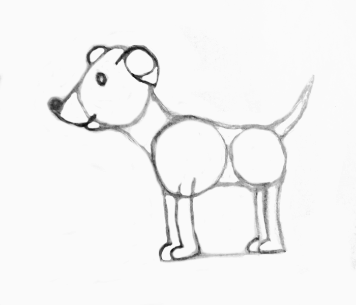 ears and mouth details-dog-drawing