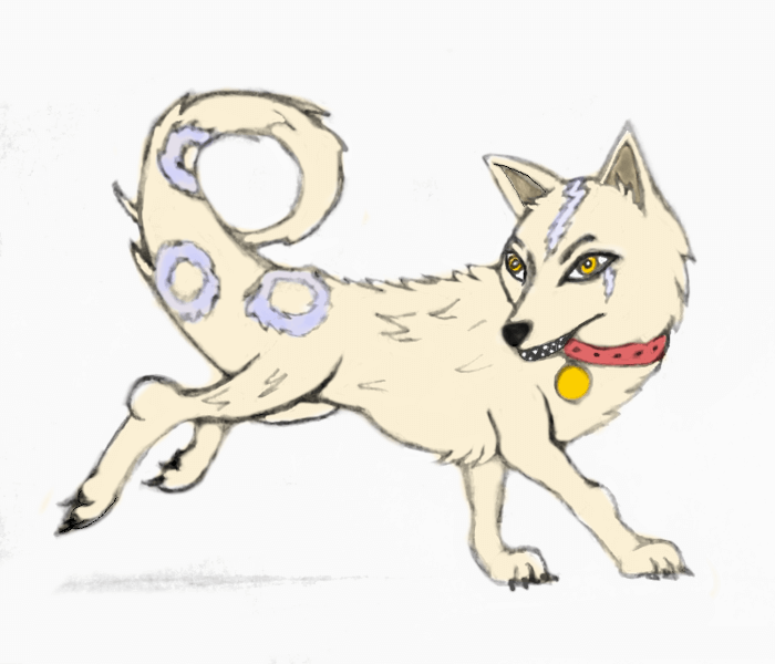 anime ghost dog drawing