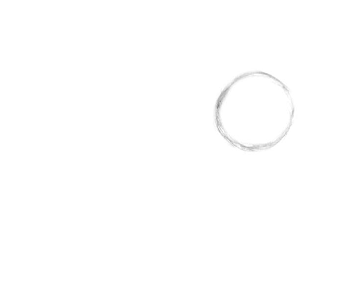 circle shape-anime dog