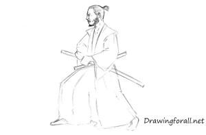 samurai draw step realistic drawingforall