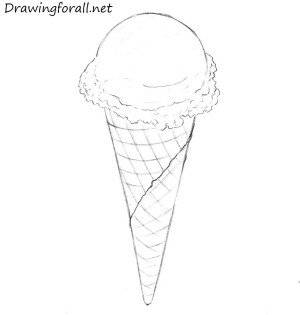 ice cream draw cone drawing pencil drawings drawingforall step sketches van