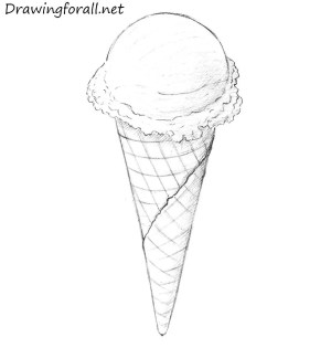 ice cream draw cone drawing still texture drawings cones tutorial lessons