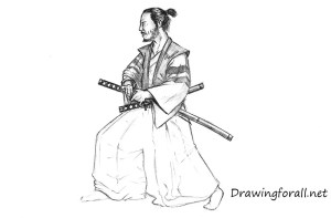 samurai drawing draw realistic step katana poses kimono swords warrior drawingforall warriors chinese hands fall