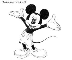 mickey mouse draw drawingforall drawing step
