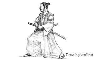 samurai draw realistic drawingforall drawing warrior japanese ancient drawings sketches sketch line tutorial