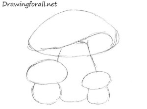 mushrooms draw mushroom drawing simple children drawingforall step drawings beginners paintingvalley something