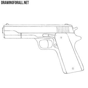 gun draw beginners drawing drawingforall