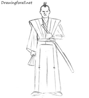 samurai draw beginners cartoon drawingforall step