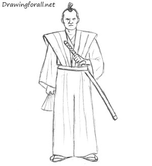 samurai draw beginners cartoon drawing simple drawingforall easy drawings warrior lesson sword sketches step