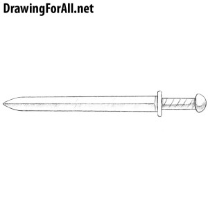 draw sword short drawing drawingforall weapons knight