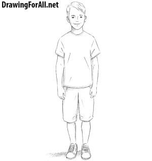 draw boy drawing sketch drawingforall step tutorial