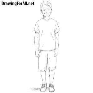 draw boy drawing kid drawingforall side