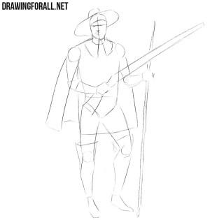 step draw musketeer drawingforall