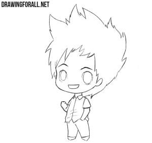 chibi boy drawing draw sketch nice tutorial