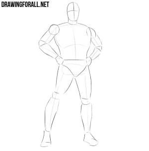superhero draw classic step learn drawingforall