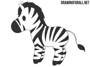 zebra draw chibi head drawn animals drawingforall