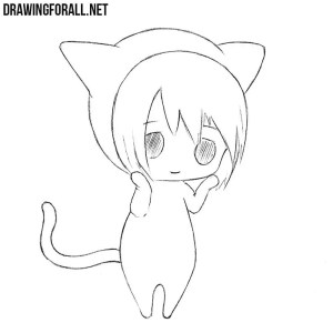 drawing draw easy chibi sketch pencil realistic drawingforall