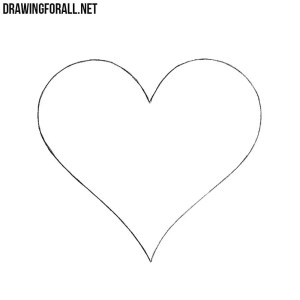 draw easy heart drawingforall