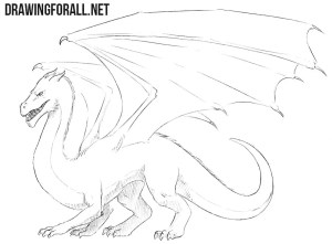 dragon draw easy drawing drawingforall dragons drawings step beginners standing eye paintingvalley flying