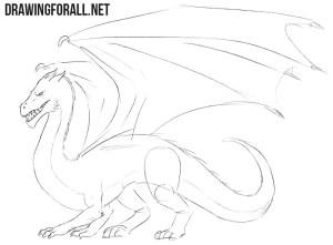 dragon easy step draw sketch drawingforall