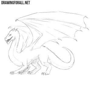 dragon draw easy drawing drawings dragons chinese drawingforall read