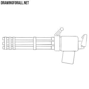 draw minigun beginners drawingforall
