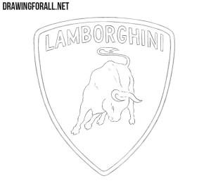 lamborghini draw step drawingforall easy cool cars logos drawings sketch sketches
